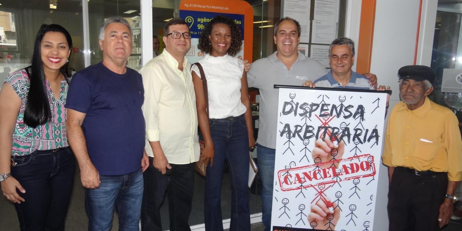 Bancária do Itaú teve demissão cancelada após intervenção do Sindicato dos Bancários de Macaé.