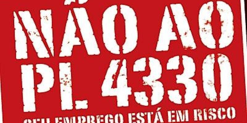 Especialistas mostram que PL 4330 desregulamenta relações de trabalho