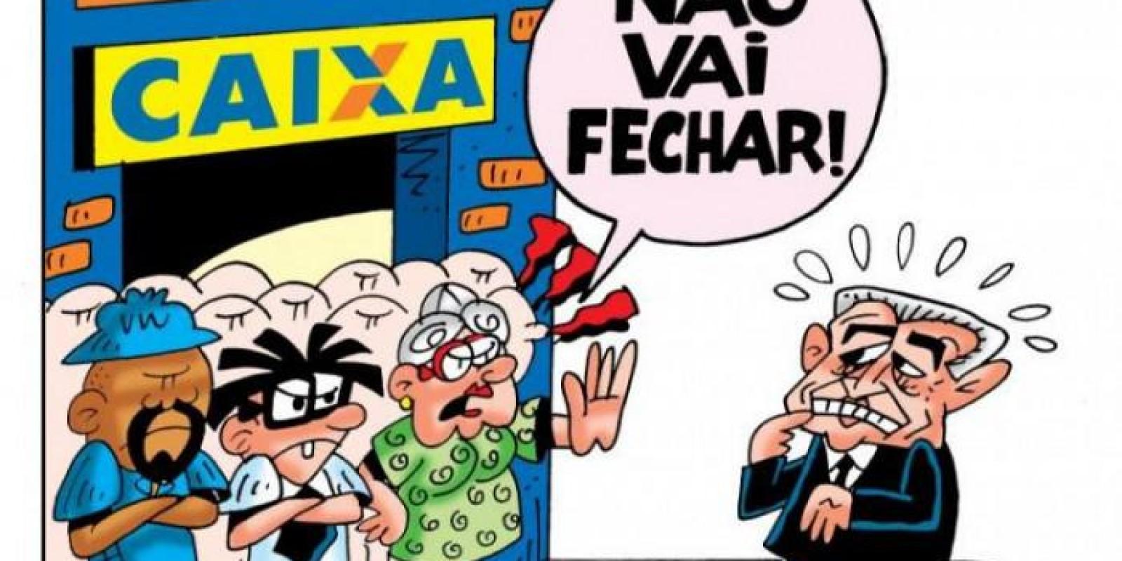 Megafesta da direção da Caixa é água no chopp do povo brasileiro