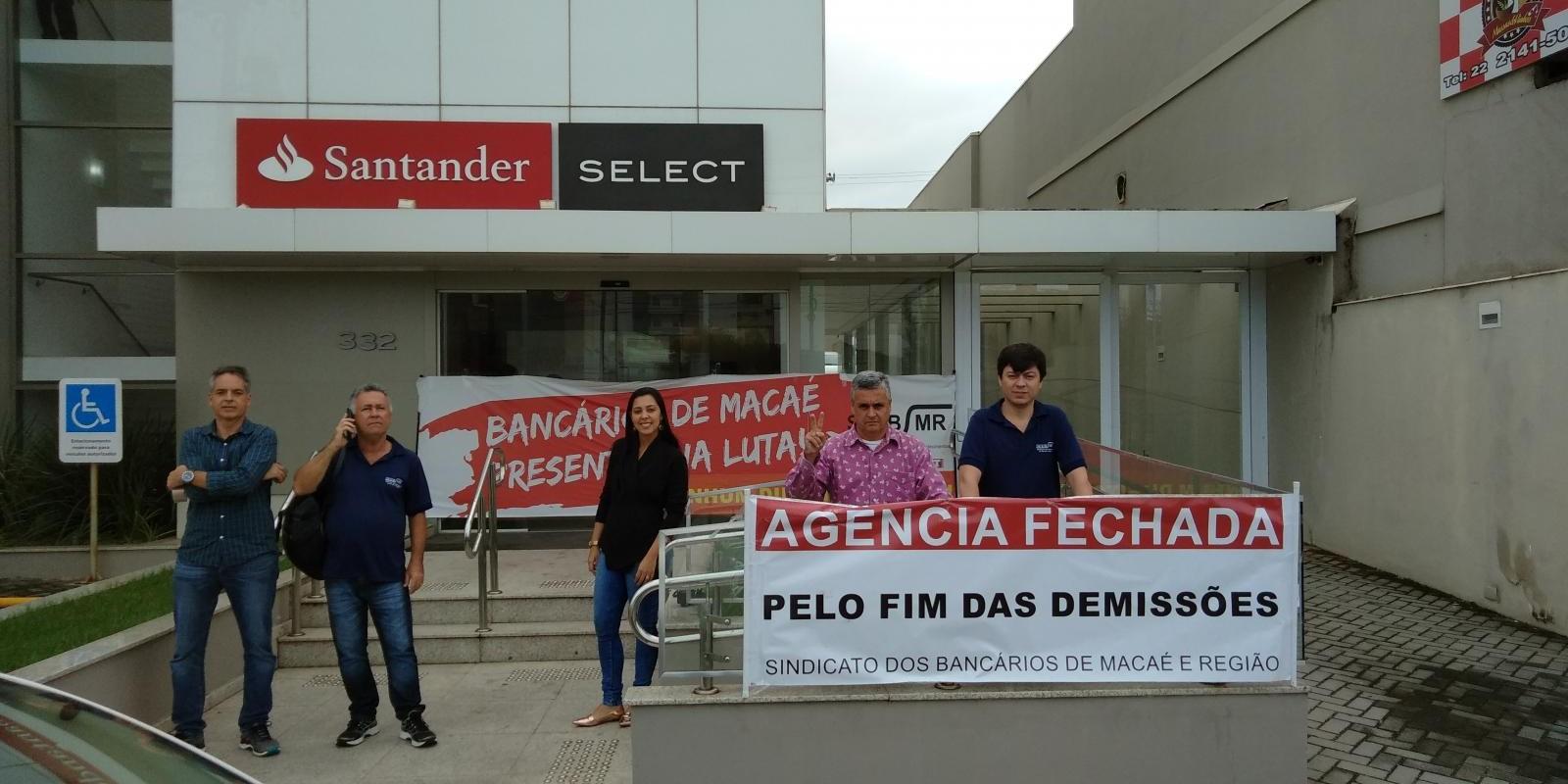 Santander demite mais uma funcionária na base de Macaé
