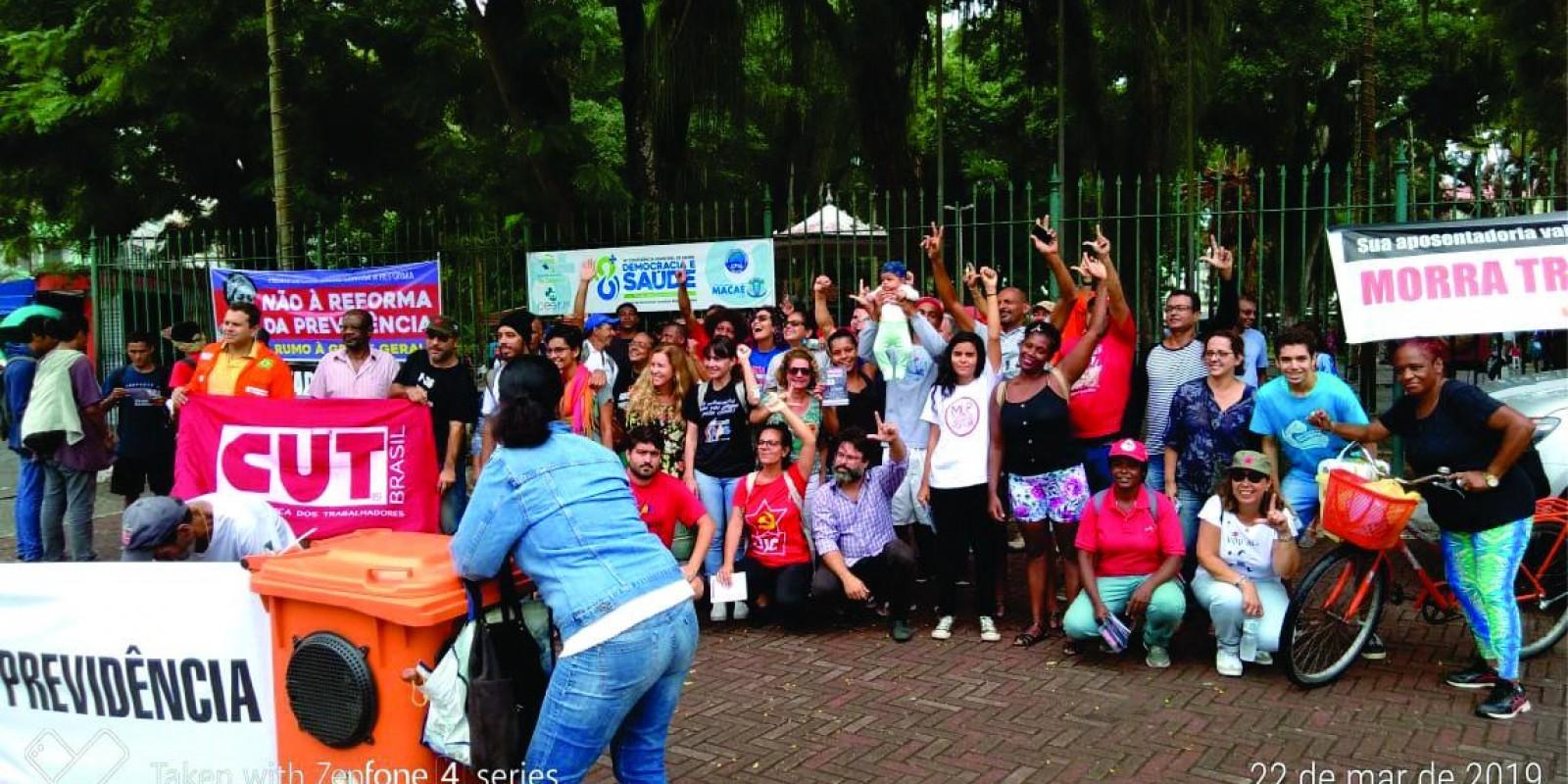 Dia de Luta contra a Reforma da Previdência