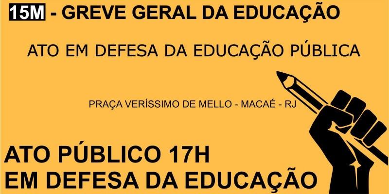 Bancários de Macaé apoiam Greve geral da educação