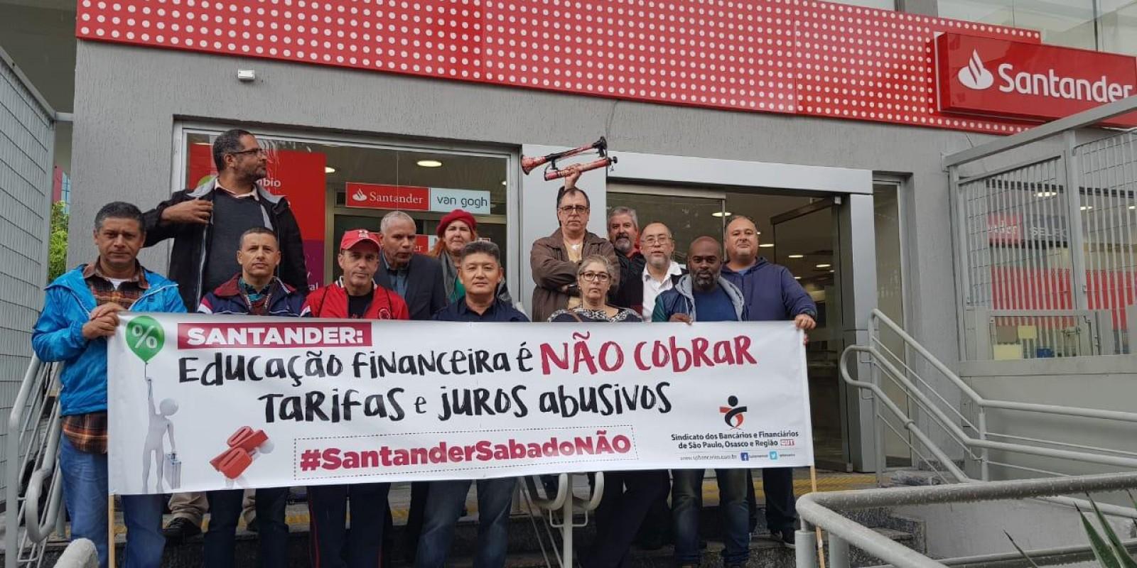 Mais um sábado de resistência no Santander