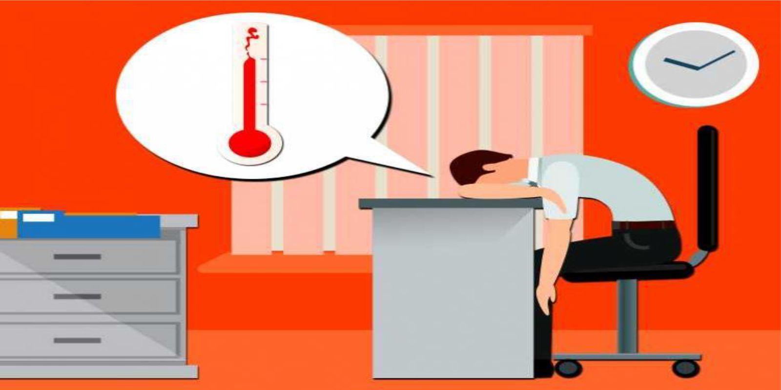Sem ar, não tem clima pra trabalhar!