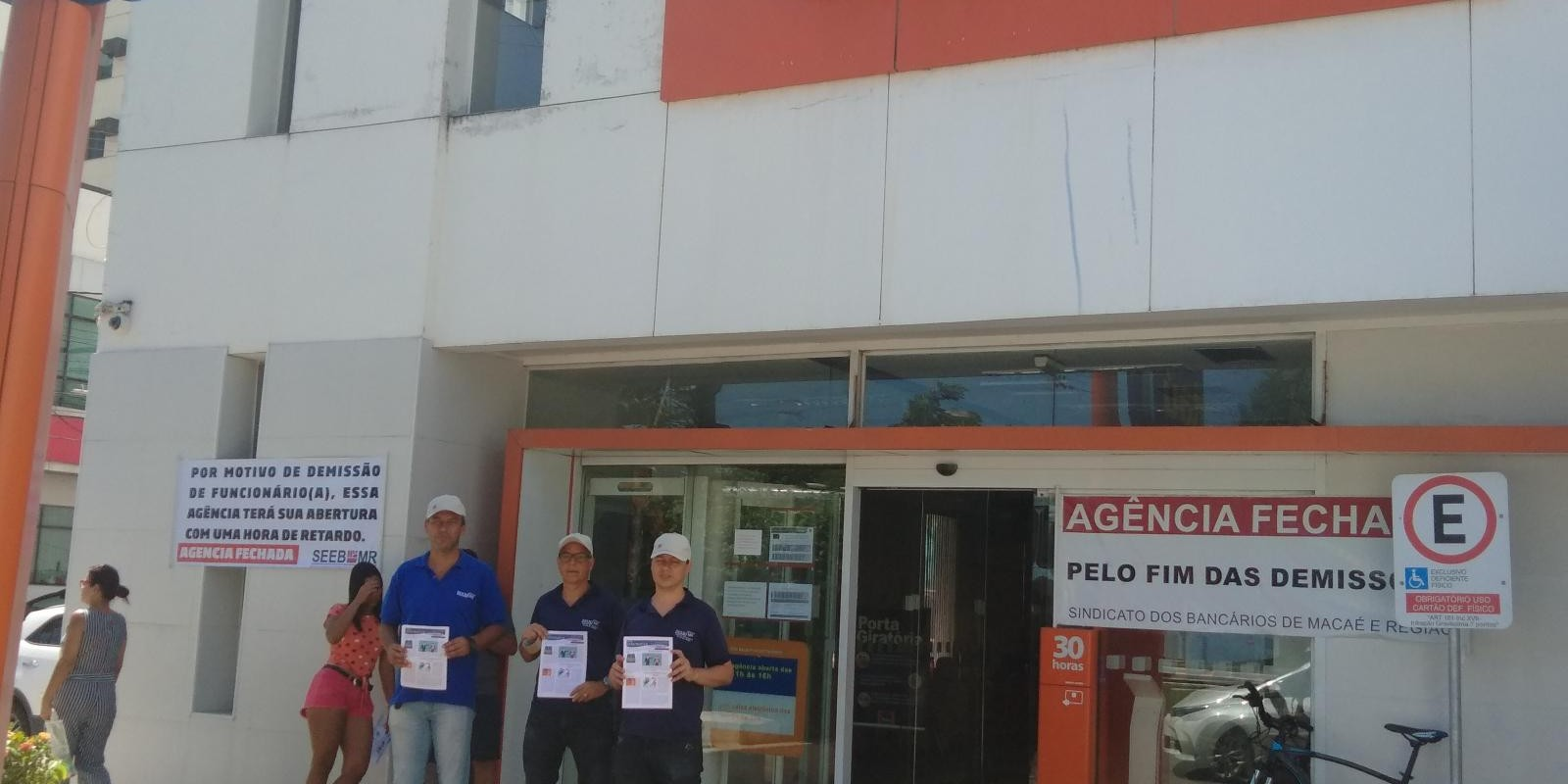 Paralisação na agência do Itaú Cavaleiros em Macaé