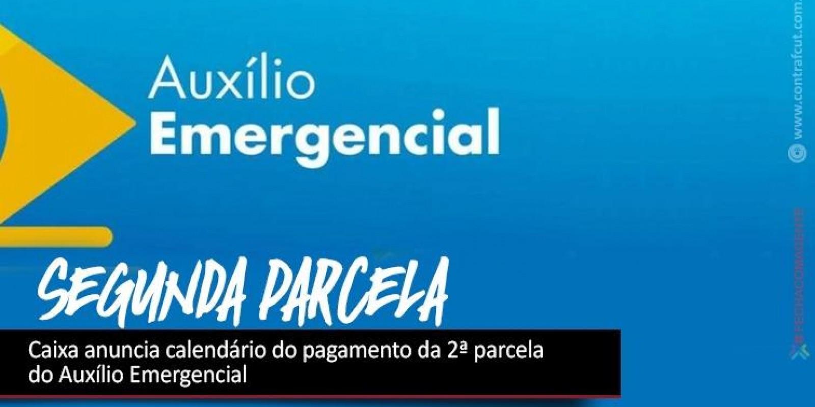 Caixa anuncia calendário do pagamento da 2ª parcela do Auxílio Emergencial
