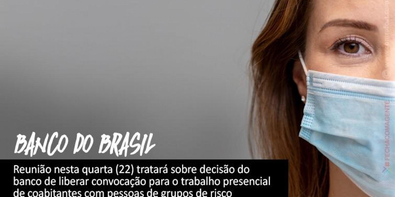 Banco do Brasil convoca retorno ao trabalho