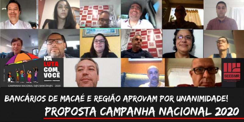 Bancários de Macaé e Região, aprovam por unanimidade propostas da Fenaban, Caixa e Banco do Brasil