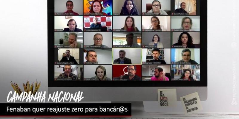 Fenaban quer que bancári@s tenham reajuste salarial zero