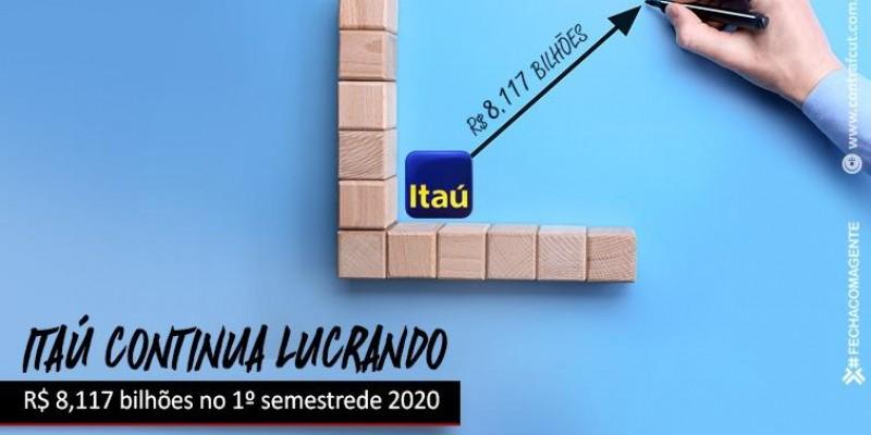 Itaú lucra R$ 8,117 bilhões no 1º semestre de 2020