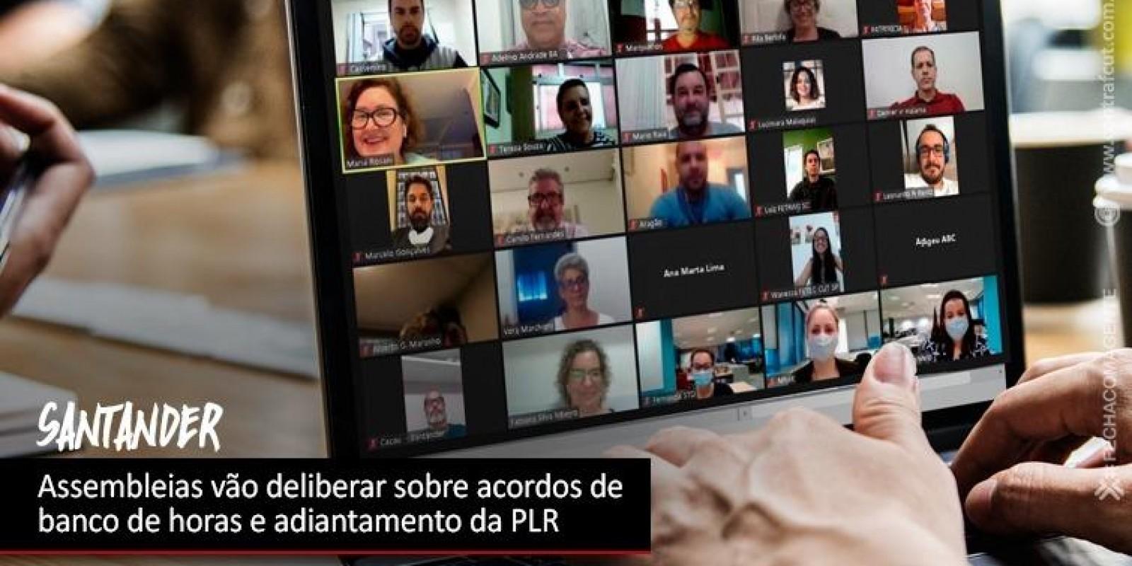 Contraf-CUT negocia aditivos de banco de horas e PLR com o Santander