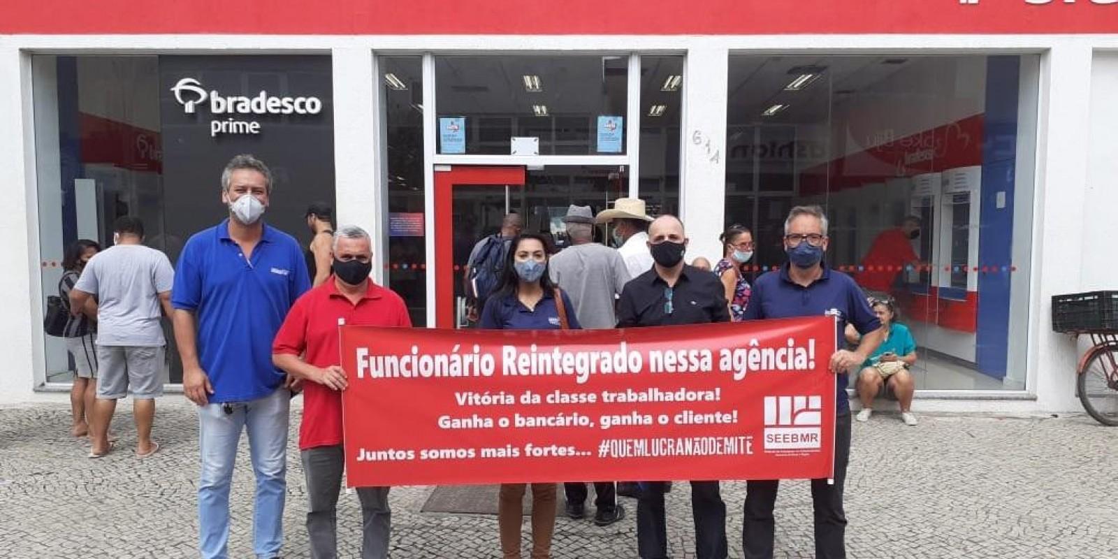 Funcionário do Bradesco reintegrado nesta sexta 13/11