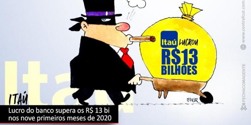 Lucro do Itaú supera os R$ 13 bi em nove meses