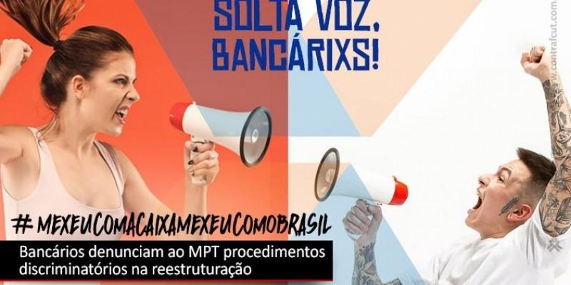 Empregados da Caixa denunciam reestruturação ao MPT