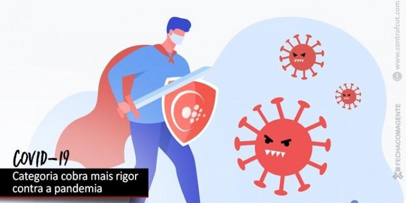 Bancári@s cobram da Fenaban mais rigor no enfrentamento da pandemia