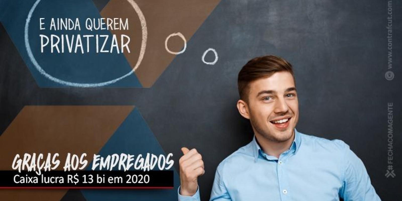 Caixa lucra R$ 13,2 bilhões em 2020