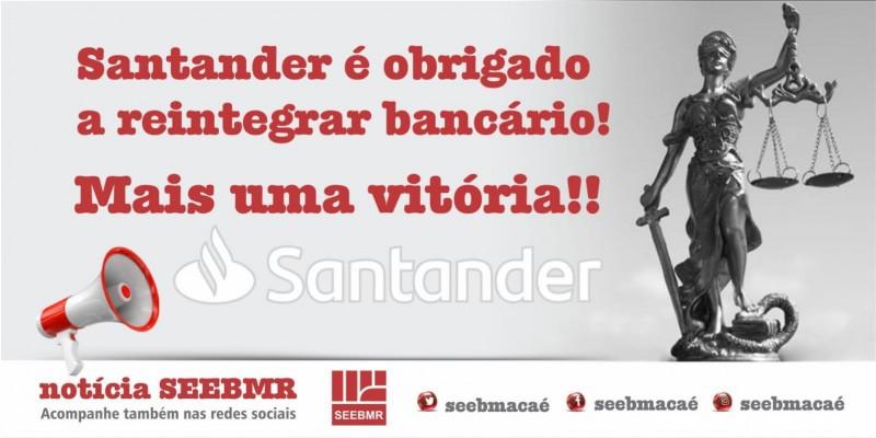 Sindicato consegue mais uma reintegração no Santander