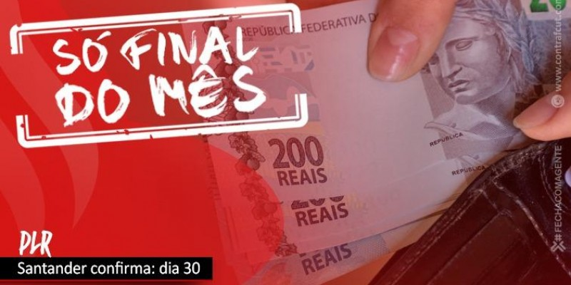 Santander pagará PLR no dia 30