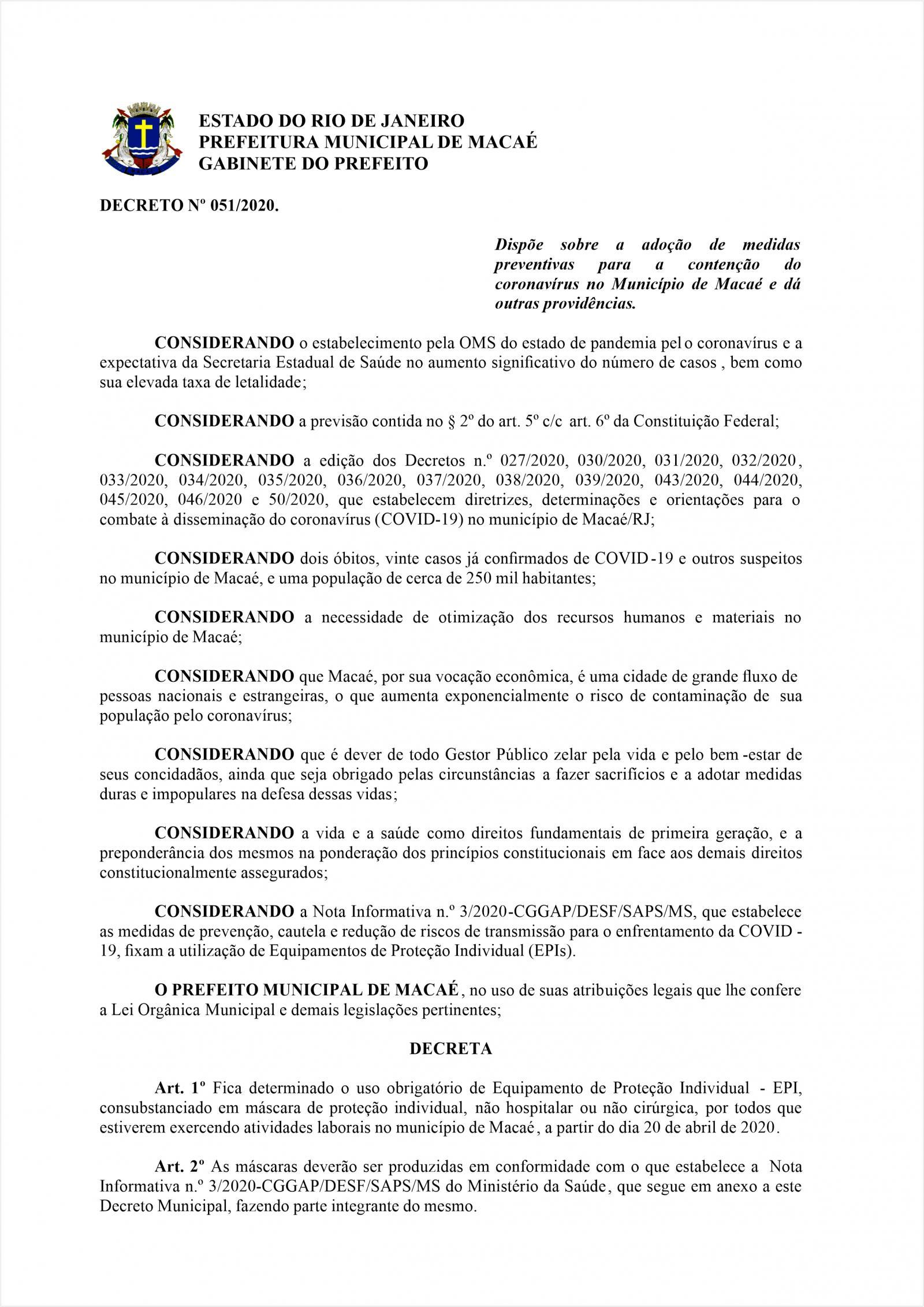 Decreto 51/2020